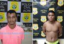 Dois acusados de roubos são presos pela Polícia Civil em Rio Branco