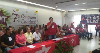 Socorro Neri, Jorge, Marcos, Angelim e demais lideranças participam de Congresso Estadual do PT