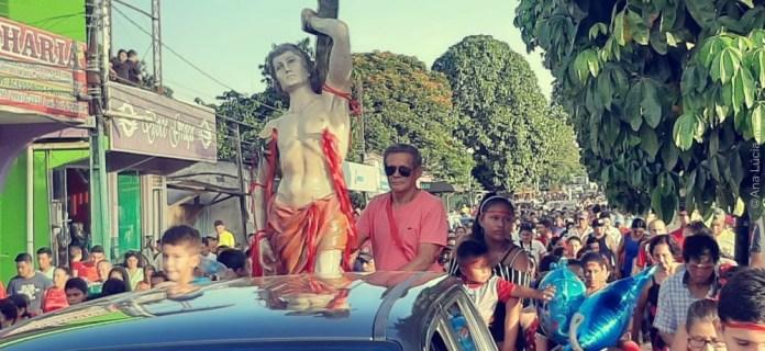 Milhares de fieis participam de procissão para São Sebastião, padroeiro de Epitaciolândia