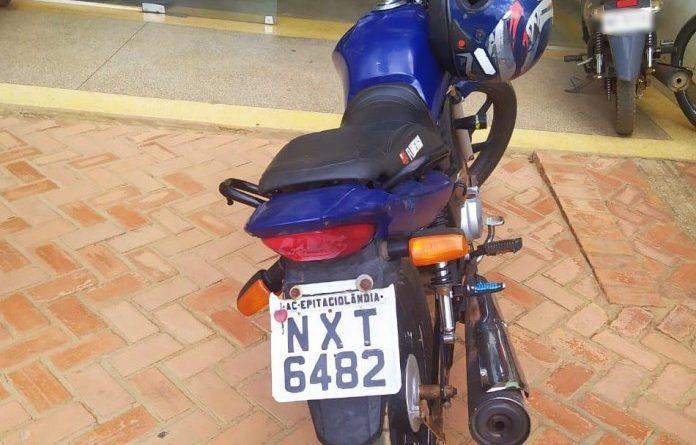 Polícia Militar recupera moto roubada em menos de 24 horas na fronteira