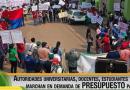 Crise na Fronteira: Sem salários, professores da Universidade de Pando fecham as ruas de Cobija