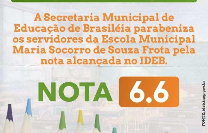 Município de Brasiléia se destaca em segundo lugar na nota do IDEB edição 2019