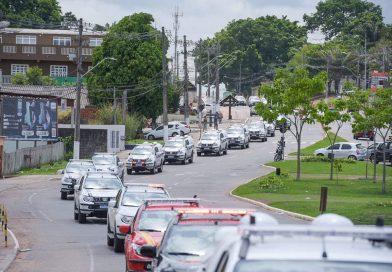 Carreata marca chegada de nova frota de veículos para segurança pública do Acre