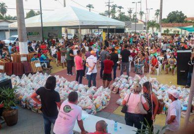 Governo segue com entrega de cestas básicas para comunidades ribeirinhas e indígenas